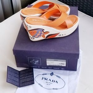 PRADA - Sea Fish Wedges